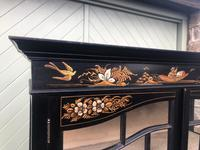 Antique Chinoiserie Lacquered Display Cabinet (4 of 9)
