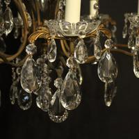 French Gilded 9 Light Birdcage Antique Chandelier (5 of 10)