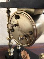 Rare Antique French Small Portico Alarm Clock (7 of 7)