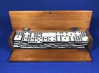 Late Victorian Long Domino Set in it's original mahogany box (11 of 13)