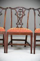 Set of 6 20th Century Mahogany Chippendale Style Dining Chair (4 of 13)