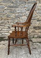 Pair of Antique Broad Arm Windsor Chairs (14 of 28)