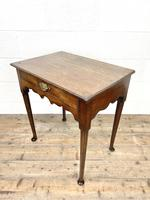 Small 18th Century Antique Oak Side Table (7 of 10)