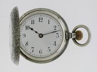 Silver Waltman Swiss Half Hunter  Pocket Watch 1900 (2 of 7)