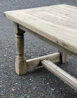 Rustic Bleached Oak French Farmhouse Dining Table (28 of 34)