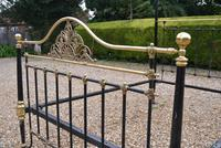 Antique King Size 5ft Half Tester Bedstead by R W Winfield. Bed Restored in your Colour (16 of 19)