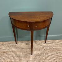 Elegant Demi Lune Tambour Front Antique Side Table (6 of 6)