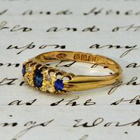 The Antique Edwardian 1908 Sapphire & Diamond Ring (2 of 3)