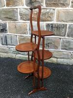 Antique Edwardian Inlaid Mahogany Stand (6 of 11)