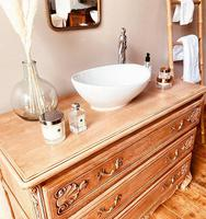 French Antique Style Washstand / Vanity / with Basin Sink (3 of 8)