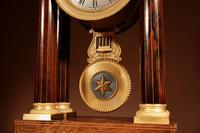 A Very Stylish Charles X Rosewood/Palisandre Inlaid With Lemon Wood and Ormolu Portico Clock Circa: 1830 (9 of 15)