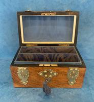 Victorian Brassbound Burr Walnut Stationary Box (9 of 11)