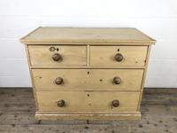 Small Victorian Antique Pine Chest of Drawers (3 of 15)
