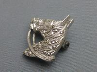 Silver and marcasite horsehead brooch (5 of 5)