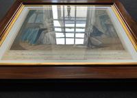 Superb Mahogany Framed Georgian Coloured Engraving of 2 Jukes & Lady Gray c.1803 (10 of 12)