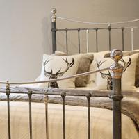 Charcoal Victorian Bed with Nickel Plating (11 of 11)