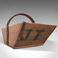 Antique Garden Trug, English, Pine, Horticulture Basket, Victorian c.1900 (11 of 12)