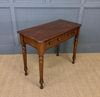 Victorian Mahogany 2 Drawer Side Table