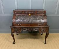 Maple and Co. Large Mahogany Cylinder Desk (2 of 25)