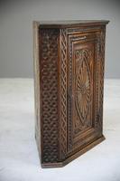 Antique Carved Oak Corner Cabinet (11 of 12)