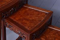 Nest of 3 Chinese Qing Dynasty Rosewood & Burr Wood Tables (9 of 11)