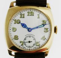 9kt Gold Longines Men's Wristwatch Swiss 1944 (2 of 10)