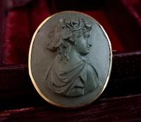 Antique Lava cameo brooch, 9ct gold (3 of 8)