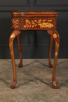 Pair of Dutch Marquetry Inlaid Serpentine Card Tables (15 of 18)