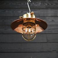 Original Ships Brass Passageway Light – Copper Shade (3 of 5)