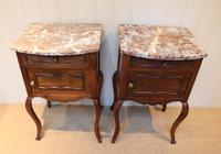 Pair Of French Walnut Bedside Cabinets (4 of 10)