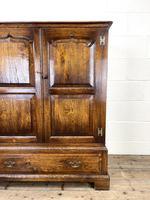 20th Century Reproduction Oak Side Cupboard (2 of 10)