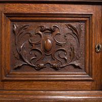 Large Antique Dresser Base, Scottish, Oak, Buffet, Server, Late Victorian, 1880 (11 of 12)