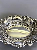 Lovely Edwardian Pierced Silver Trinket Dish (3 of 7)