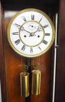 Fine Antique German Twin Walnut 8-Day Mantel Clock Vienna Striking Wall Clock (5 of 35)