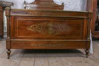 Incredible Mahogany & Brass Napoleon II Double Bed (3 of 10)