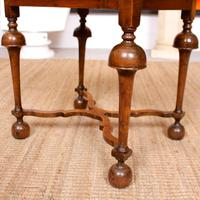 Walnut Side Table Continental Queen Anne Carved Lamp Table (9 of 12)