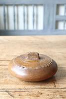 Scandinavian / Swedish 'Folk Art' wooden sliding-lid bowl 19th Century