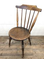 Set of Four Victorian Elm Penny Chairs (9 of 11)