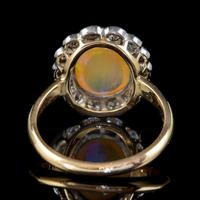 Antique Edwardian Opal Diamond Ring 18ct Gold Platinum 1.80ct Opal Circa 1910 (5 of 7)