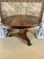 19th Century Rosewood Round Centre Table (8 of 8)