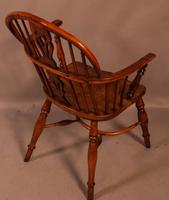 Yew Wood low Windsor Chair Rockley Maker (10 of 10)