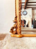 Antique Gold Mirror / Gilt Mirror / Large Mirror (7 of 9)