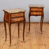 Pair of French Walnut & Kingwood Bedside Cabinets (8 of 8)