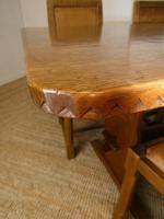 Yorkshire ( Lizardman) Oak Table & 4 Chairs (2 of 13)