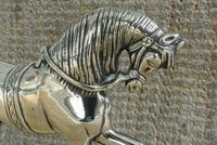 Fine Pair of Victorian Cast Brass Horse Hearth Ornaments Door Stop Door Porter (4 of 7)