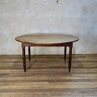 19th Century French Chestnut Circular Drop Leaf Table