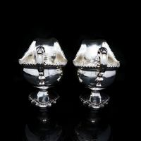 Pair of Georgian Solid Silver Pedestal Sauce Boats - William Collins 1774 (20 of 24)