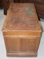 1920s Oak Desk with Red Leather on Top . 1 Piece. (2 of 3)