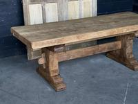 Superb Rustic Large Bleached Oak Farmhouse Table with Extensions (3 of 36)