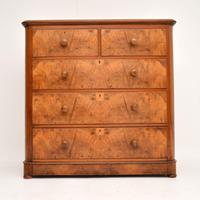 Antique Victorian Burr Walnut Chest of Drawers (8 of 11)